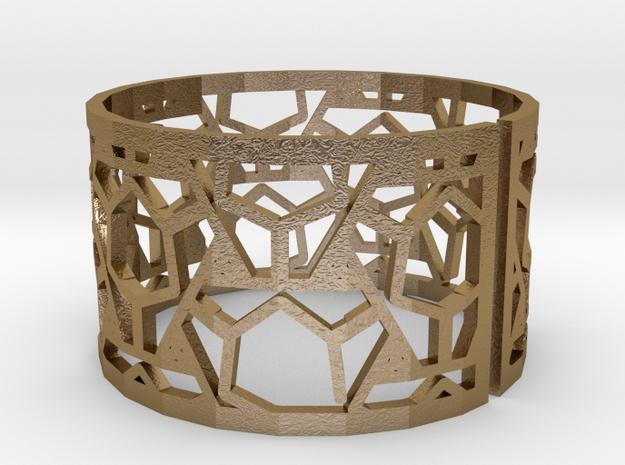 Bracelet AQ (2) in Polished Gold Steel