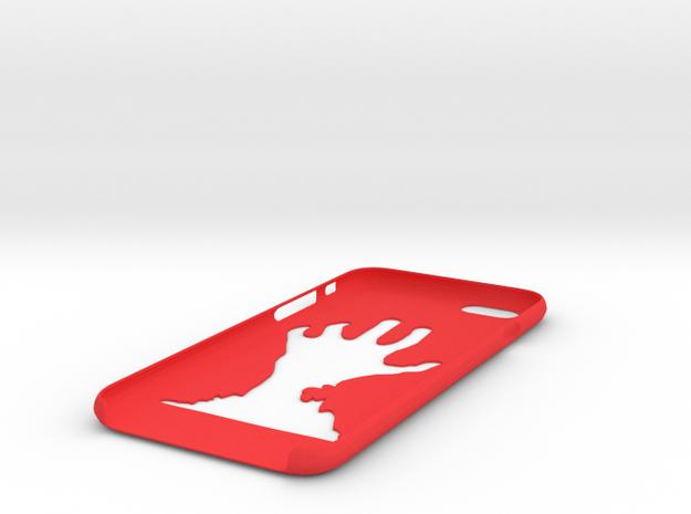 IPhone 6D Hand Case in Red Processed Versatile Plastic