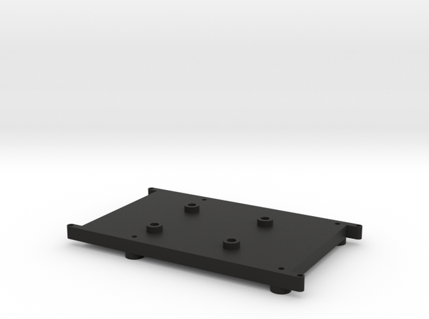 Raspberry Pi Holder in Black Natural Versatile Plastic