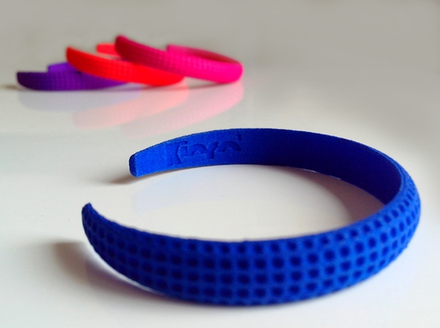 Voilà Cuff in Blue Processed Versatile Plastic: Medium