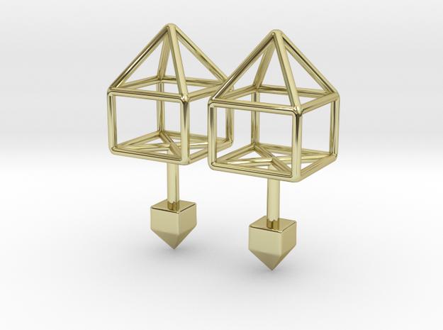 House Cufflinks in 18k Gold Plated Brass