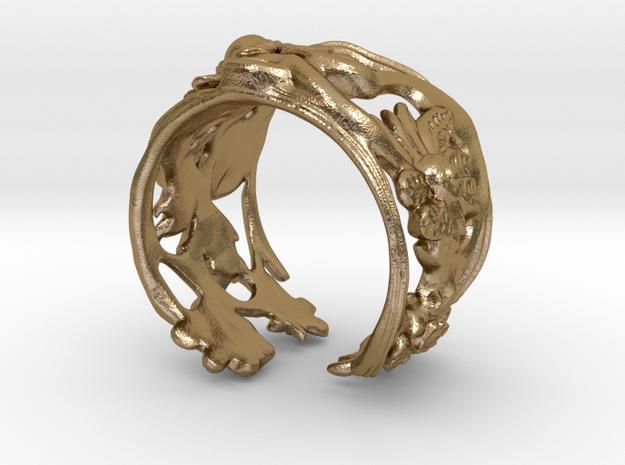 Bracelet KI in Polished Gold Steel
