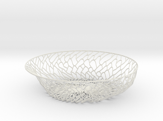 Organic Plate in White Natural Versatile Plastic