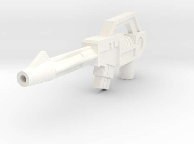 Titans Return Deluxe Class Blurr Rifle in White Processed Versatile Plastic