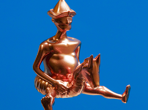 Don Quichote II  3d printed Spray painted (Gold)