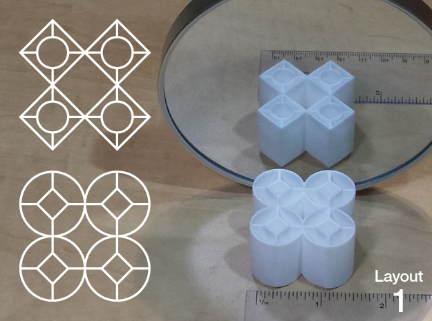 Improved Ambiguous Cylinder Illusion (Layout 1) in White Natural Versatile Plastic