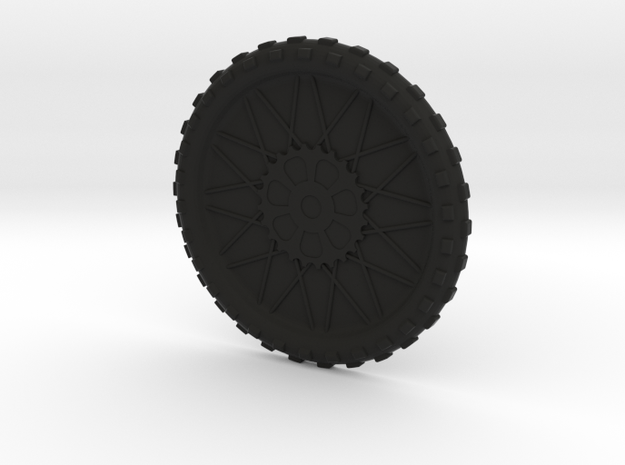 Motorcycle wheel and tire beverage coaster, small in Black Natural Versatile Plastic