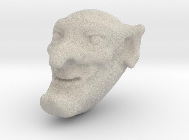 Mr Punch in Natural Sandstone