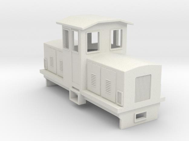 009 Electric Centrecab Locomotive (009 Jennifer 1) in White Natural Versatile Plastic