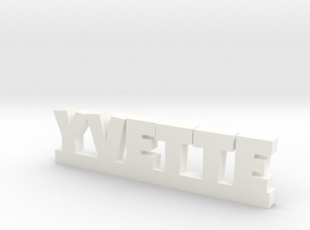 YVETTE Lucky in White Processed Versatile Plastic