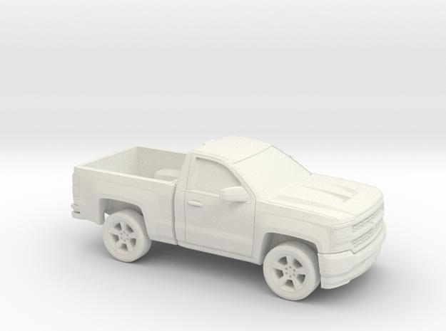 1/87 2016/17 Chevrolet Silverado Single Cab Short  in White Natural Versatile Plastic