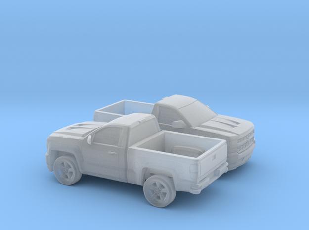 1/160 2X 2016/17  Chevrolet Silverado Single Cab S in Smooth Fine Detail Plastic