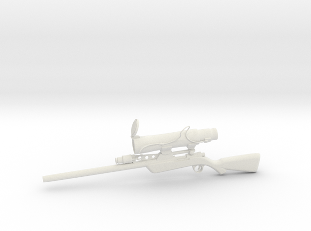 Sniper rifle in White Strong & Flexible