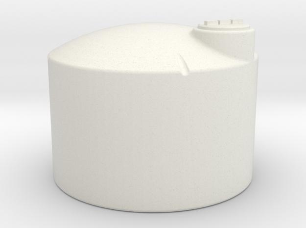 1/64 Scale 1550 Gallon Fertilizer Tank in White Natural Versatile Plastic