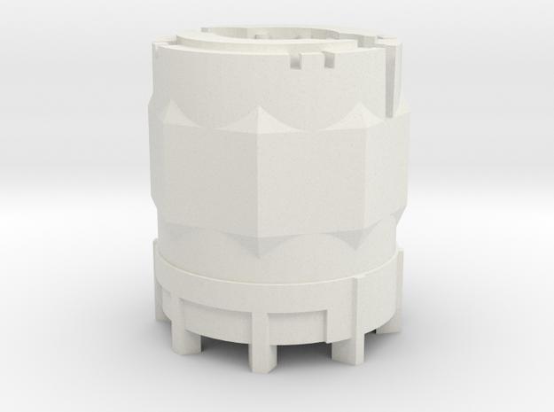 1/64 Scale 110 Gallon Chemical Shuttle in White Natural Versatile Plastic