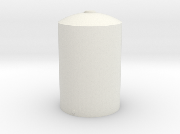 1/64 Scale 5000 Gallon Vertical Tank in White Strong & Flexible