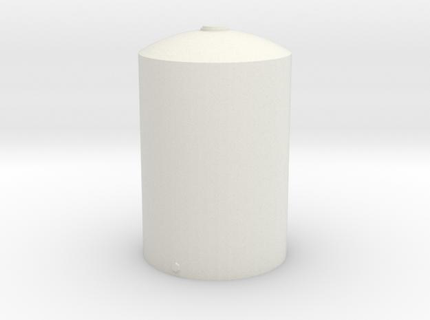 1/64 Scale 5000 Gallon Vertical Tank in White Natural Versatile Plastic