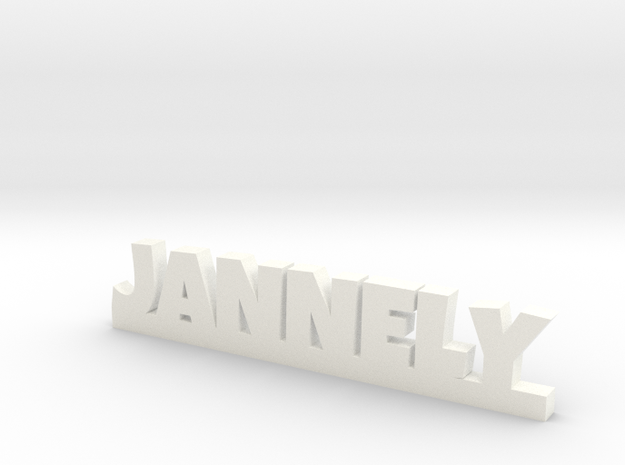 JANNELY Lucky in White Processed Versatile Plastic