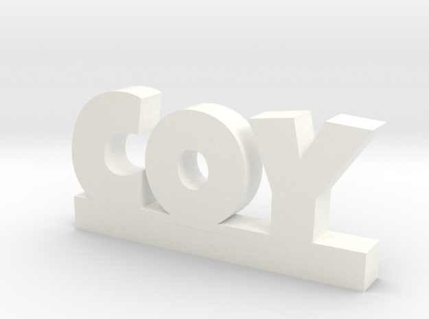 COY Lucky in White Processed Versatile Plastic