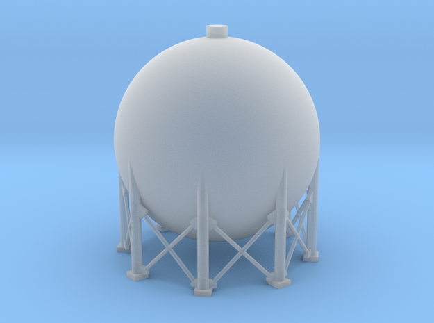 N Scale Spherical Tank 137m3 in Smooth Fine Detail Plastic