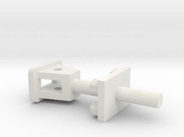 Attelage 1-13e - Coupling 7/8n2 in White Strong & Flexible