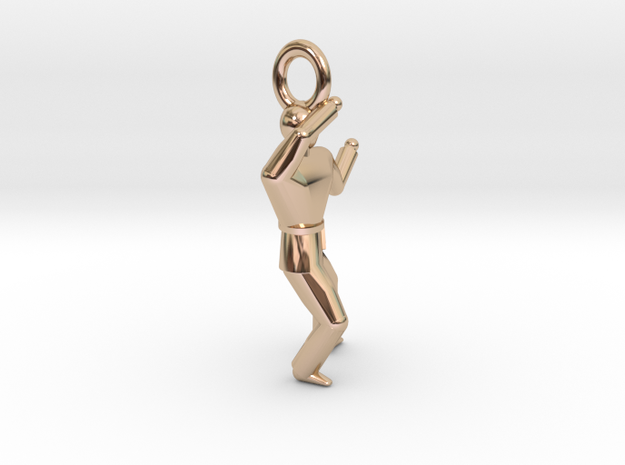 Pendant - P4 in 14k Rose Gold Plated Brass