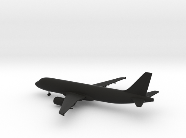 Airbus A320 in Black Natural Versatile Plastic: 1:400
