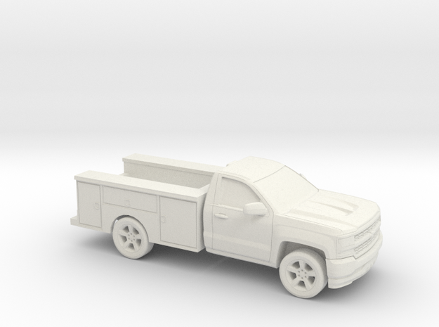 1/87 2016/17 Chevrolet Silverado Single Cab Utilit in White Natural Versatile Plastic