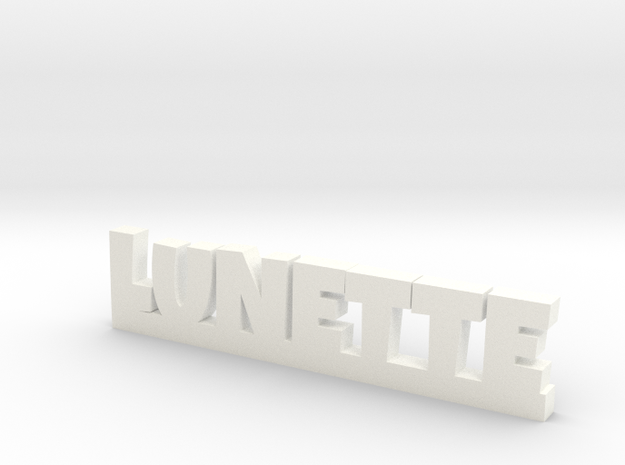 LUNETTE Lucky in White Strong & Flexible Polished