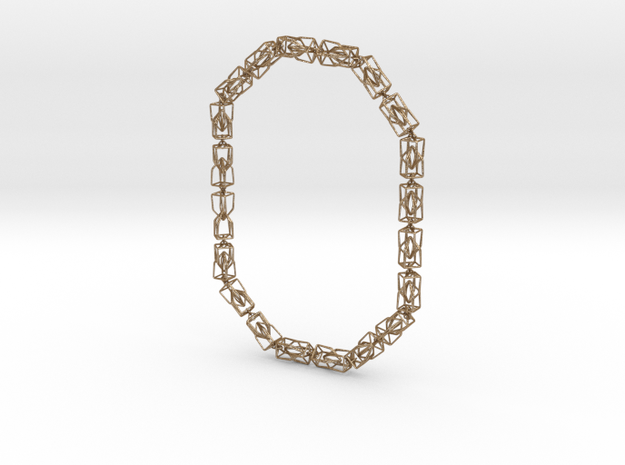 40 Houses Necklace in Matte Gold Steel