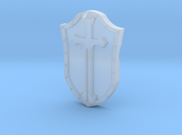 Arm-mounted Combat Shields (Sword Detail) in Frosted Ultra Detail