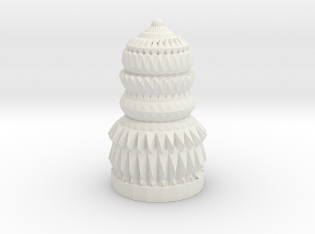 Assembled Chess Piece  in White Natural Versatile Plastic