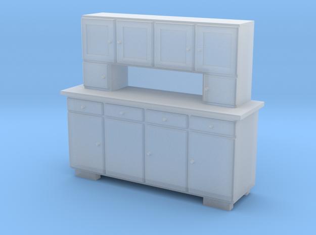 H0 Cupboard 4 Doors - 1:87 in Smooth Fine Detail Plastic