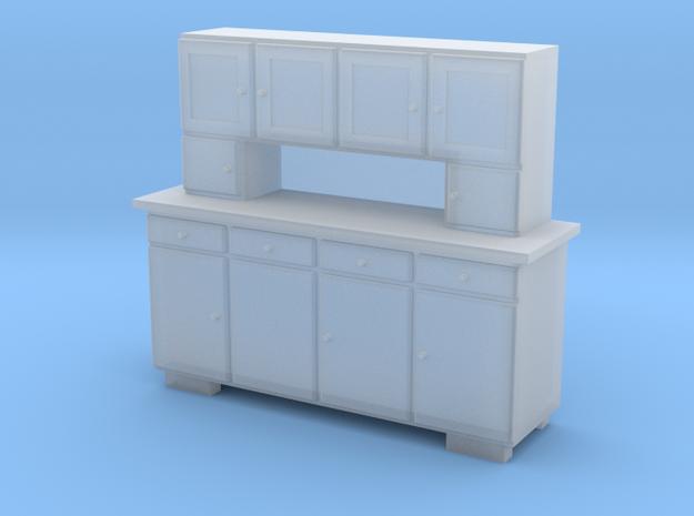 TT Cupboard 4 Doors - 1:120 in Smooth Fine Detail Plastic