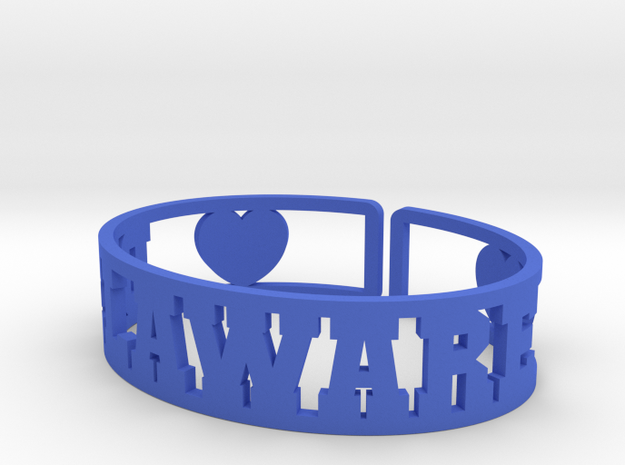 Delaware Cuff in Blue Strong & Flexible Polished