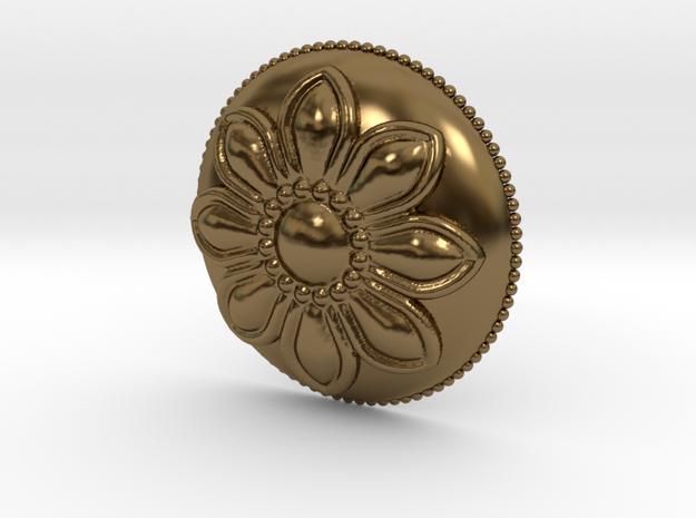 Margarita Flower Pendant in Polished Bronze