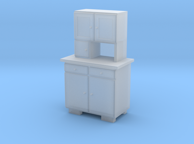 TT Cupboard 2 Doors - 1:120 in Frosted Ultra Detail