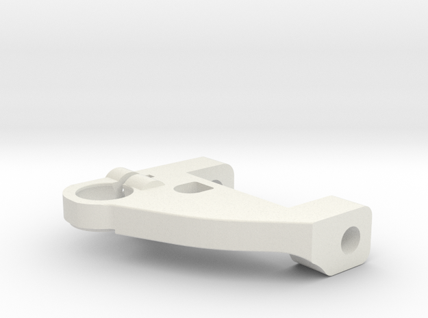KMD-FR01 Left Upper Arm in White Natural Versatile Plastic