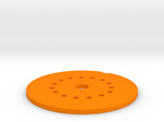 LED Mounting Disc - 1:350 Alternative Part in Orange Strong & Flexible Polished