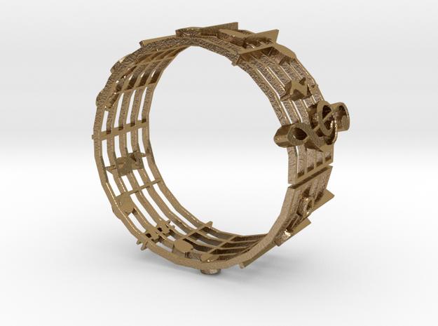 Bracelet MM Medium in Polished Gold Steel