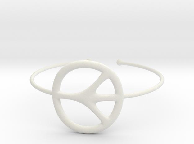 Peace Bracelet in White Strong & Flexible