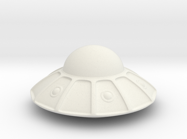 flying saucer in White Natural Versatile Plastic: Extra Small
