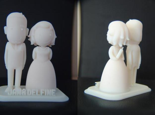 Newly weds 3d printed the final 3d print! Hooray!