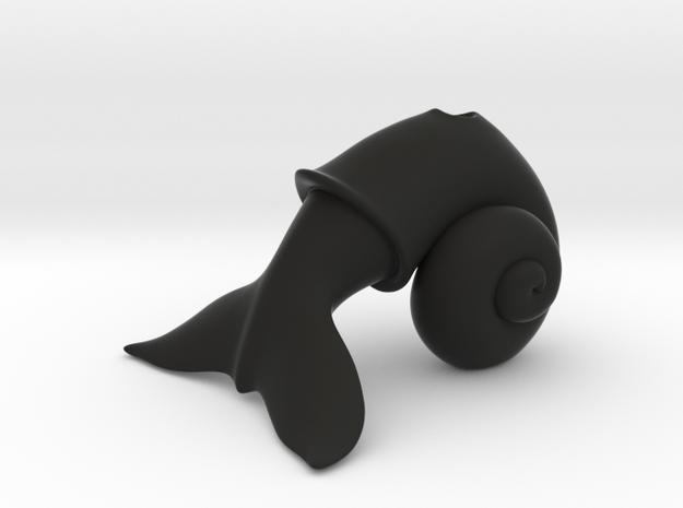 WhaleSnail in Black Natural Versatile Plastic
