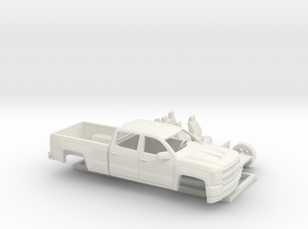 1/64 2016 Chevrolet Silverado Long Bed Kit in White Natural Versatile Plastic