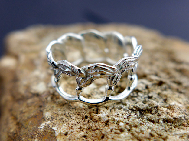 Kelp Ring in Polished Silver: 5 / 49