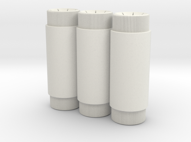 Shore Triple Canisters in White Strong & Flexible
