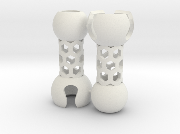 2 Small Popcorn Jointed-Tubes (Sprued)