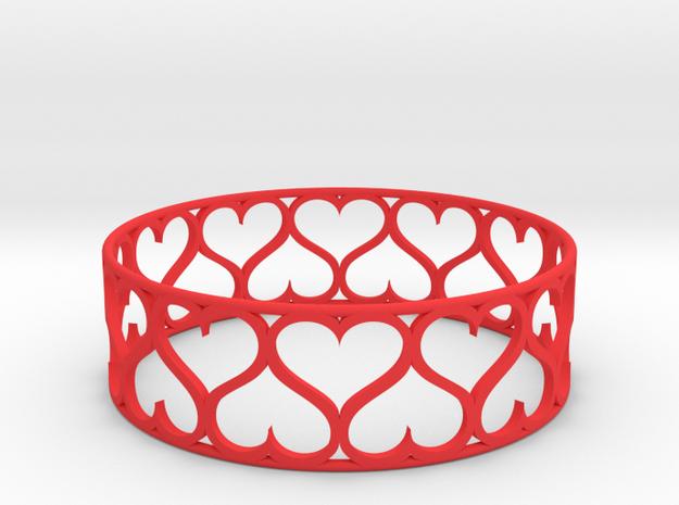 Love Bracelet in Red Processed Versatile Plastic