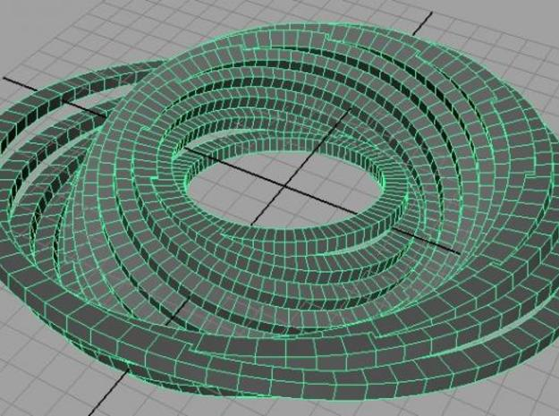 Misaligned Rings (Small) 3d printed Rough rendering.